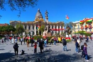 Główny plac w La Paz