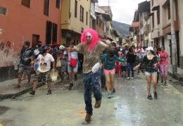 Cajamarca, Carnaval, pintura 2