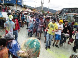 Cajamarca, Carnaval, pintura 5