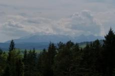 Widok na Tatry ze szlaku