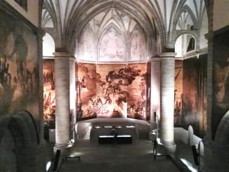 Wnętrze Muzeum San Telmo w San Sebastian