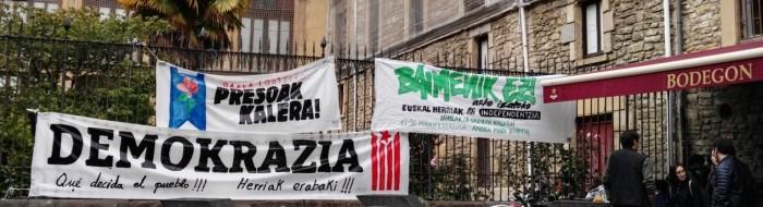 Vitoria, Kraj Basków, transparenty