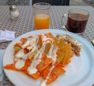 Chilaquiles w wersji skromnej...