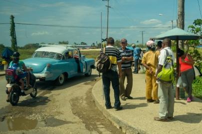 Ludzie na ulicy na Kubie