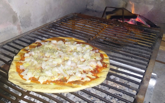 pizza a la parilla Argentyna